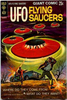 BIOGRAFIAS E COISAS .COM: Capas Da Revista Em Quadrinhos UFO Flying Saucers Da Editora Gold Key