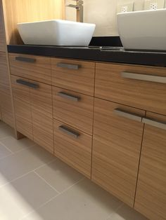 Grain matched rift-sawn white oak vanity Master Bath Remodel, White Oak, Modern Furniture, Vanity, Woodworking, Design, Home Decor, Dressing Tables, Powder Room