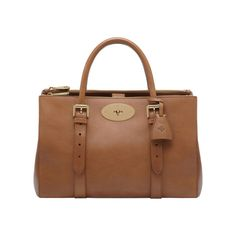 Bayswater Double Zip Tote - Mulberry