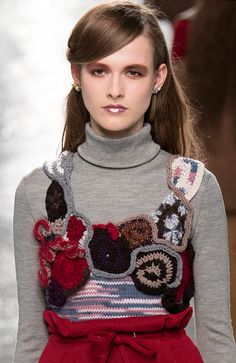 New #Crochet on the Runway from Rodarte (Autumn/Winter 2014 #Fashion Week)