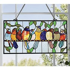 Stained Glass Bird Hanging from Montgomery Ward®