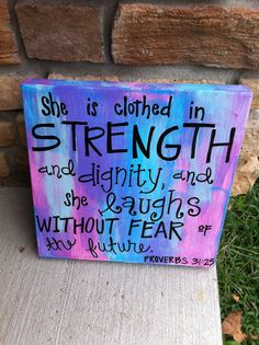 Girly Verse Canvas Proverbs 3125 by laurencox00 on Etsy, $29.00