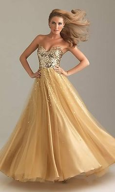 47f3a2afca New Sexy Long Sequins Gold Tulle Bridesmaid Prom Party Ball Evening Dresses  6