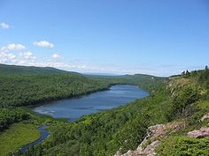 Porcupine Mountains Wilderness State Park - Ontonagon, Michigan...the view of Lake of the Clouds on a clear day