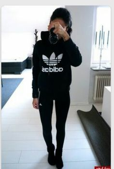 Casual exercise outfit #adidas