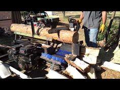 Homemade Firewood Processor - Log Splitter - YouTube
