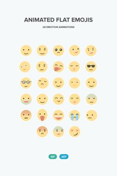 ⬇ Free download: Animated Flat Emojis