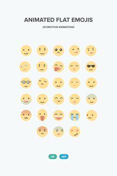 ⬇ Free download: Animated Flat Emojis