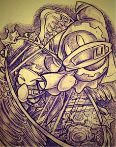 """Normal Magolor is like, """"What's up with you? Kirby Character, Character Design, Meta Knight, Hoshi, Design Art, Scary, Video Games, Nintendo, Fandoms"""