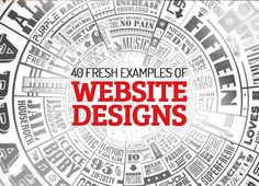 40 Fresh examples of Website Designs #webdesign #responsivedesign #html5css3 #websitedesign