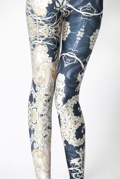 Mucha Black Leggings | Black Milk Clothing. Well I never: printed leggings I can actually see myself wearing!