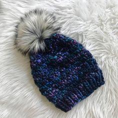 Faux Fur Pom Pom Hat Knit Beanie Knit Hat Pom Pom Hat Pom Pom Beanie Winter Hat Ready To Ship - the Luxe Denali - in Whales Road by BeauAmour on Etsy https://www.etsy.com/listing/576238595/faux-fur-pom-pom-hat-knit-beanie-knit