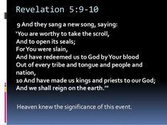 Corpus JEHOVAH TRIUMPH Institutes - Foundational Verses Revelation 5 v9-10