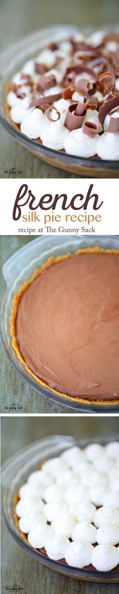 This easy French Silk Pie recipe without eggs has a delicious graham cracker crust. A chocolate pie is perfect for serving at holidays and celebrations.
