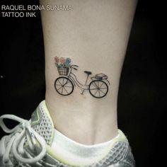 """2,376 Likes, 123 Comments - Tattoo Ink- Estudio de Tattoo (@estudiotattooink) on Instagram: """"Bicicleta! Tatuagem feita pela tatuadora Raquel Bona Sunama no Tattoo Ink - Rua da consolação 2761…"""""""