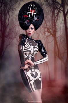 Palermo+Skeleton+Latex+rubber++Dress+from+by+Westwardboundlatex,+$673.00