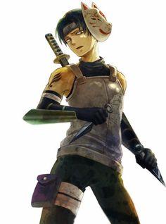 Shingeki no Kyojin » Fanart   Crossover: Shingeki no Kyojin x Naruto, Anbu Levi   #anbu #levi