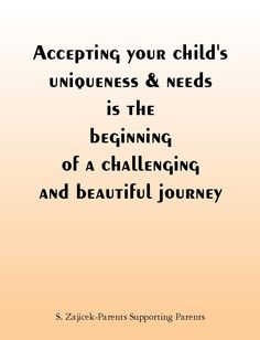 Accepting you child