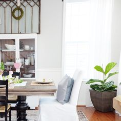 Decorating with Greenery — cottage style blog