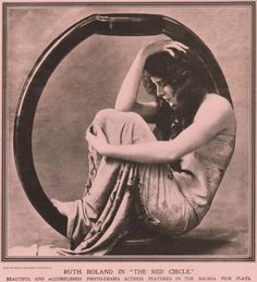 """spicyhorror:  Ruth Romand in """"The Red Circle"""", 1916"""