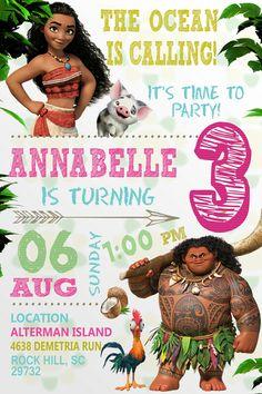 free moana birthday invitation template birthday invitation for