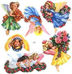 For Sale Norwegian Scrap, Clip Art, Painting, Vintage, Angels, Tags, Children, Trading Cards, Young Children
