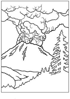 Free Printable Volcano Coloring Pages For Kids | Volcano, School and ...