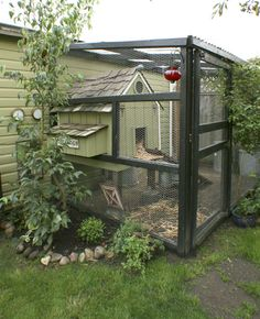 chicken coop on side