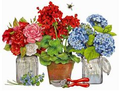 Melissa Shirley Designs | Hand Painted Needlepoint | Roses, Geraniums, & Forget-Me-Nots