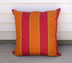 Vibrant Pink and Orange Vertical Striped by lovelylovedesigns, $25.00