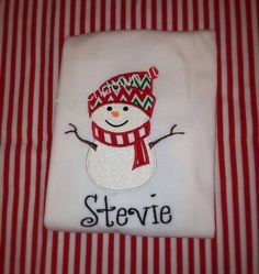 Personalized snowman shirt by TouchdownTutus on Etsy