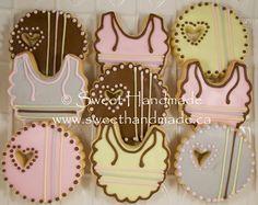 Sweet Handmade Cookies - Baby Shower cookies, bib cookies.