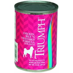 Triumph Chicken, Rice & Vegetables Dog Food - 12x13.2 oz ~~ You can read more reviews of the product by visiting the link on the image. (This is an affiliate link and I receive a commission for the sales)