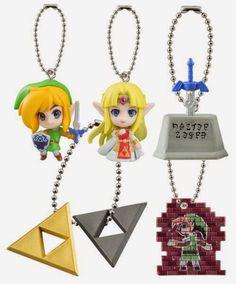 "Zelda Link Between Worlds Keychain Aprox 1/"" Only 1 Piece Triforce"