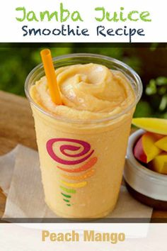 Smoothie recipes 495325659014923196 - Jamba Juice Peach Mango Smoothie, a creamy peach flavored shake, surprises your senses with a bite of mango. This recipe will show you how to make one. Source by makedrinks Jamba Juice Recipes, Mango Smoothie Recipes, Apple Smoothies, Juice Smoothie, Healthy Smoothies, Drink Recipes, Matcha Smoothie, Juicer Recipes, Smoothie Cleanse