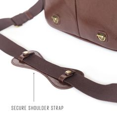 New Dark Brown Camera Bag With Handle - Large. www.nomoreuglycamerabags.com