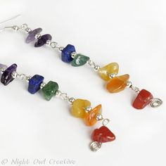 Spectrum Earrings  Silver Plated and with a by NightOwlCreative