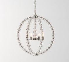 Stacked Crystal Chandelier | Pottery Barn