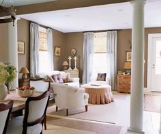 columns used to separate living and dining rooms