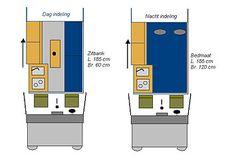 Indelingsfoto minicamper       ford transit connect