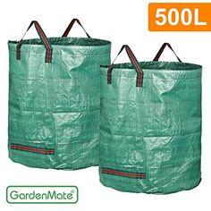 GardenMate® 2x Gartensack 500l PROFESSIONAL aus robustem Polypropylen-Gewebe (PP) Homestead
