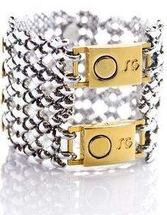 Gold + Silver  Liquid Metal Sergio Gutierrez Bracelet, www.joangoehler.com/