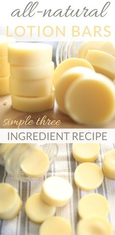 Naturkosmetik The best selfmade lotion bars with important oils # easiest Ar Lotion Bars Diy, Lotion En Barre, Three Ingredient Recipes, Diy Beauté, Diy Crafts, Design Crafts, Decor Crafts, Homemade Beauty Products, Natural Oils