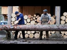 GET IT done: How you can build a Log cabin on your own. The Nerve Wrecking Life of a Lumber Jack in the wildlife. Time to collect firewood. Cabin Plans, Shed Plans, Cabin Homes, Log Homes, Cordwood Homes, How To Build A Log Cabin, True Homes, Wood Logs, Tiny House Movement