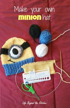 Minion Hat ~ Made to Suit ~ Life Beyond the Kitchen