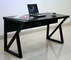 This contemporary espresso desk is constructed of durable wood veneers and adds subtle sophistication to your home or office. The sleek, elegant construction of the legs and dark espresso finish make this piece stand out in many existing decors.