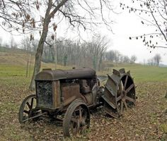 Abandoned In The Countryside | OLD TRACTORS farming equipement and ...