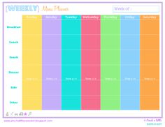 Pinch A Little Save-A-Lot: Free Weekly & Monthly Menu Planner