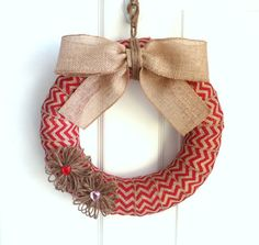 Valentine's Day Burlap Wreath  Modern by WeddingsAndWreaths, Choose Your Size Option Available