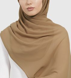 Iced Coffee Soft Crepe Hijab - £11.90 : Inayah, Islamic Clothing & Fashion, Abayas, Jilbabs, Hijabs, Jalabiyas & Hijab Pins